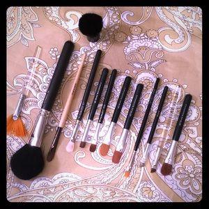 Make up brushes- 14 total, assorted brands
